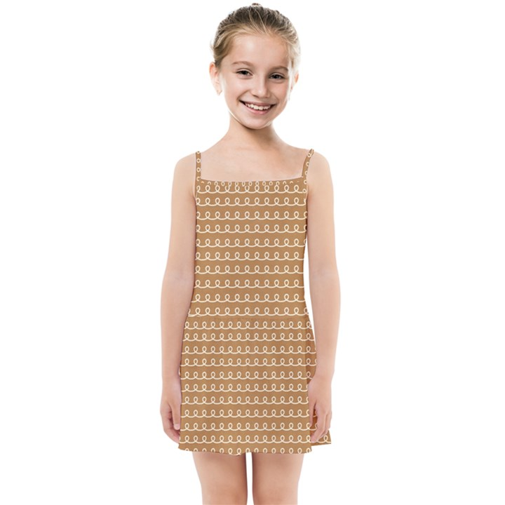 Gingerbread Christmas Kids Summer Sun Dress