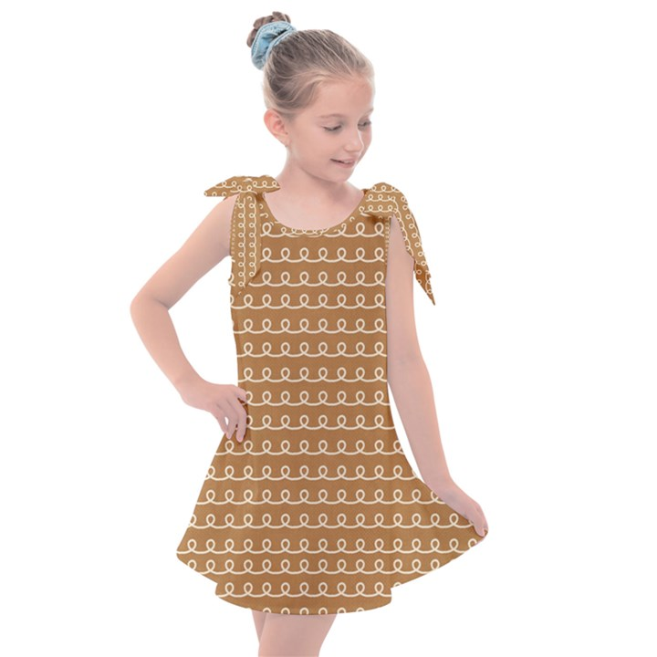 Gingerbread Christmas Kids  Tie Up Tunic Dress