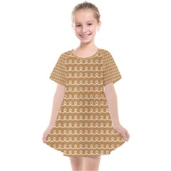 Gingerbread Christmas Kids  Smock Dress