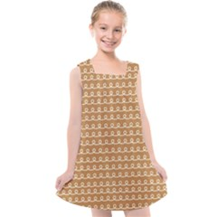 Gingerbread Christmas Kids  Cross Back Dress