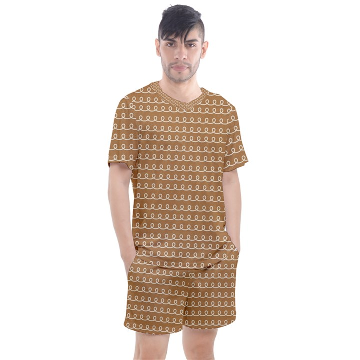 Gingerbread Christmas Men s Mesh Tee and Shorts Set