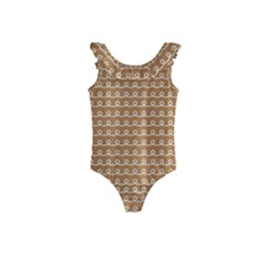 Gingerbread Christmas Kids  Frill Swimsuit