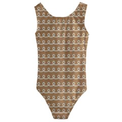 Gingerbread Christmas Kids  Cut-Out Back One Piece Swimsuit