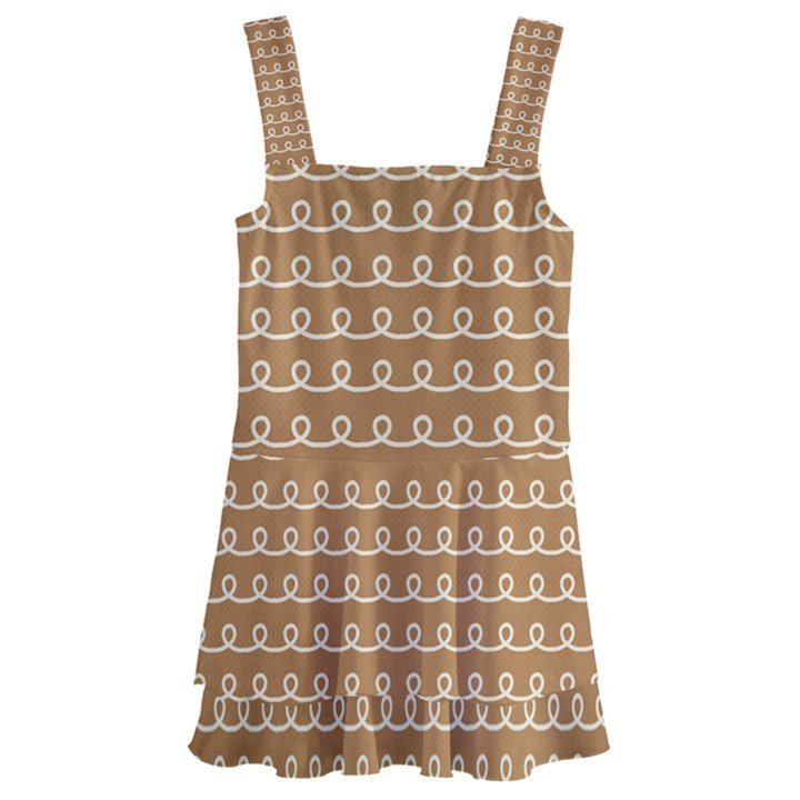Gingerbread Christmas Kids  Layered Skirt Swimsuit