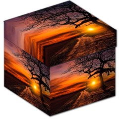 Lonely Tree Sunset Wallpaper Storage Stool 12