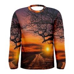 Lonely Tree Sunset Wallpaper Men s Long Sleeve Tee