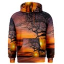 Lonely Tree Sunset Wallpaper Men s Pullover Hoodie View1