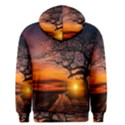 Lonely Tree Sunset Wallpaper Men s Pullover Hoodie View2