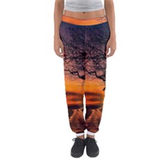 Lonely Tree Sunset Wallpaper Women s Jogger Sweatpants