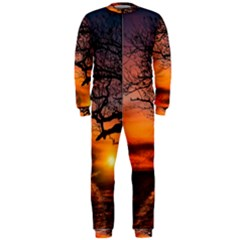 Lonely Tree Sunset Wallpaper OnePiece Jumpsuit (Men)
