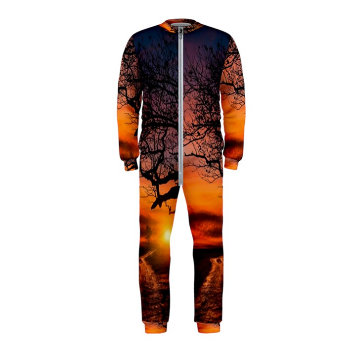 Lonely Tree Sunset Wallpaper OnePiece Jumpsuit (Kids)