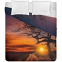 Lonely Tree Sunset Wallpaper Duvet Cover Double Side (California King Size) View1