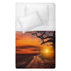 Lonely Tree Sunset Wallpaper Duvet Cover (Single Size)