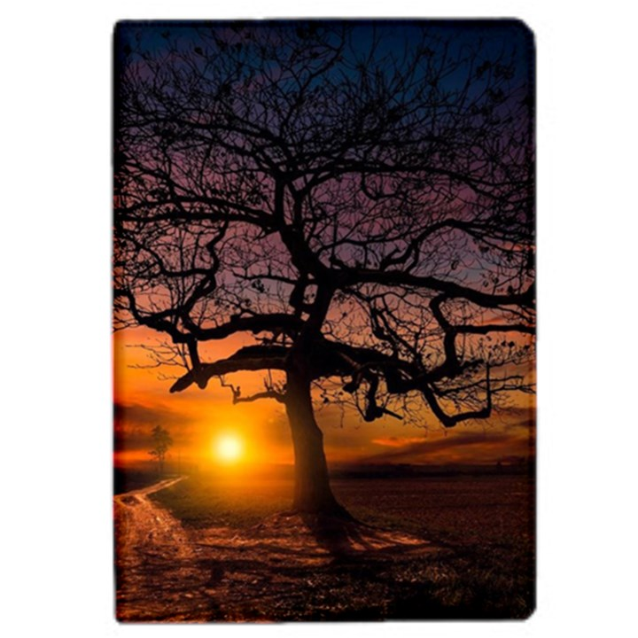 Lonely Tree Sunset Wallpaper iPad Mini 4