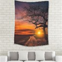 Lonely Tree Sunset Wallpaper Medium Tapestry View2