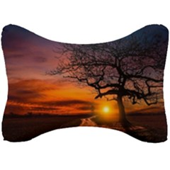 Lonely Tree Sunset Wallpaper Seat Head Rest Cushion