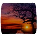 Lonely Tree Sunset Wallpaper Back Support Cushion View1