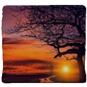 Lonely Tree Sunset Wallpaper Back Support Cushion View4