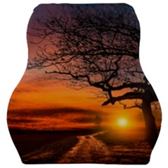 Lonely Tree Sunset Wallpaper Car Seat Velour Cushion
