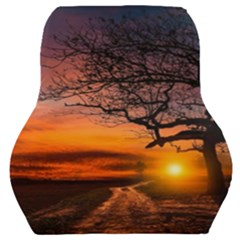 Lonely Tree Sunset Wallpaper Car Seat Back Cushion