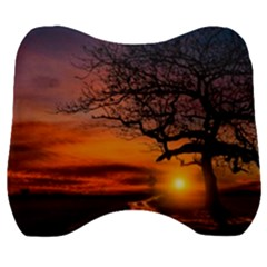 Lonely Tree Sunset Wallpaper Velour Head Support Cushion