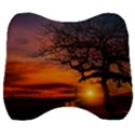 Lonely Tree Sunset Wallpaper Velour Head Support Cushion View1