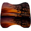 Lonely Tree Sunset Wallpaper Velour Head Support Cushion View2