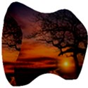 Lonely Tree Sunset Wallpaper Velour Head Support Cushion View3