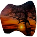 Lonely Tree Sunset Wallpaper Velour Head Support Cushion View4