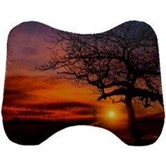 Lonely Tree Sunset Wallpaper Head Support Cushion