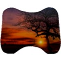 Lonely Tree Sunset Wallpaper Head Support Cushion View1