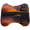 Lonely Tree Sunset Wallpaper Head Support Cushion View2