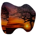 Lonely Tree Sunset Wallpaper Head Support Cushion View3