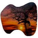 Lonely Tree Sunset Wallpaper Head Support Cushion View4