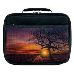 Lonely Tree Sunset Wallpaper Lunch Bag