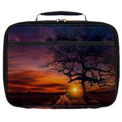 Lonely Tree Sunset Wallpaper Full Print Lunch Bag