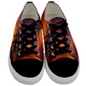 Lonely Tree Sunset Wallpaper Men s Low Top Canvas Sneakers View1