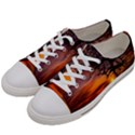 Lonely Tree Sunset Wallpaper Women s Low Top Canvas Sneakers View2