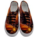 Lonely Tree Sunset Wallpaper Men s Classic Low Top Sneakers View1
