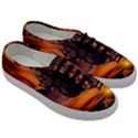 Lonely Tree Sunset Wallpaper Men s Classic Low Top Sneakers View3