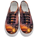 Lonely Tree Sunset Wallpaper Women s Classic Low Top Sneakers View1