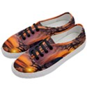 Lonely Tree Sunset Wallpaper Women s Classic Low Top Sneakers View2