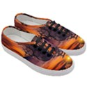 Lonely Tree Sunset Wallpaper Women s Classic Low Top Sneakers View3