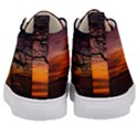 Lonely Tree Sunset Wallpaper Kid s Mid-Top Canvas Sneakers View4