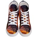 Lonely Tree Sunset Wallpaper Women s Hi-Top Skate Sneakers View1