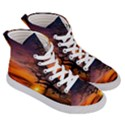 Lonely Tree Sunset Wallpaper Women s Hi-Top Skate Sneakers View3