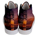 Lonely Tree Sunset Wallpaper Women s Hi-Top Skate Sneakers View4