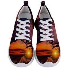 Lonely Tree Sunset Wallpaper Men s Lightweight Sports Shoes