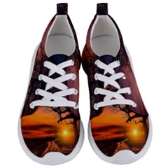 Lonely Tree Sunset Wallpaper Women s Lightweight Sports Shoes