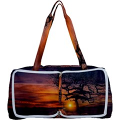 Lonely Tree Sunset Wallpaper Multi Function Bag